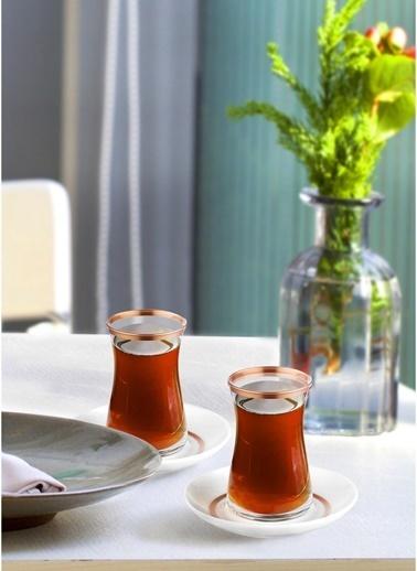The Mia Halos Çay Seti 12 Parça -  Bakır Bakır
